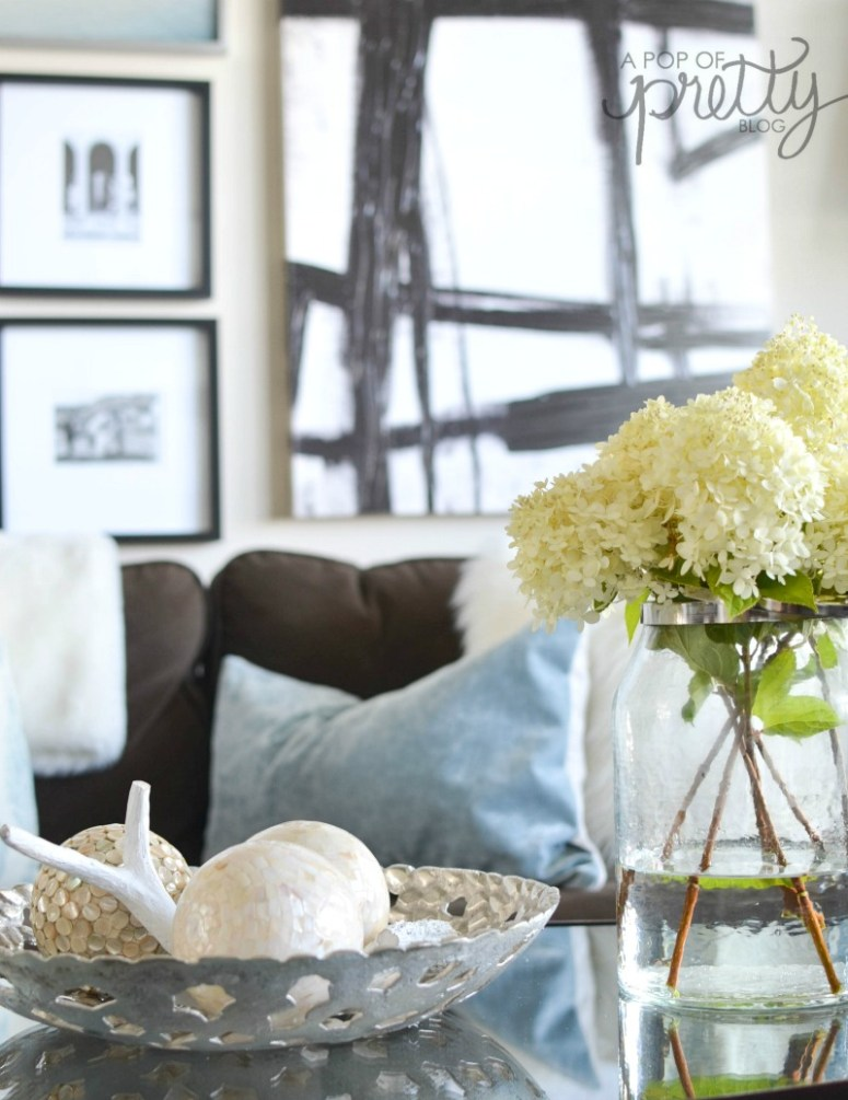 decorating with hydrangeas Fall