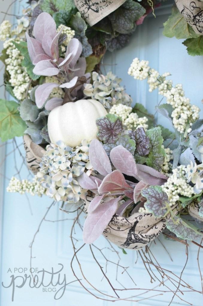 diy Fall wreath floral tutorial