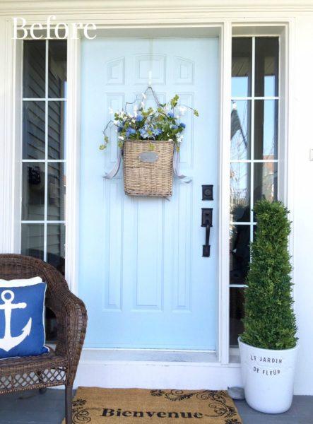 before craftsman front door installed