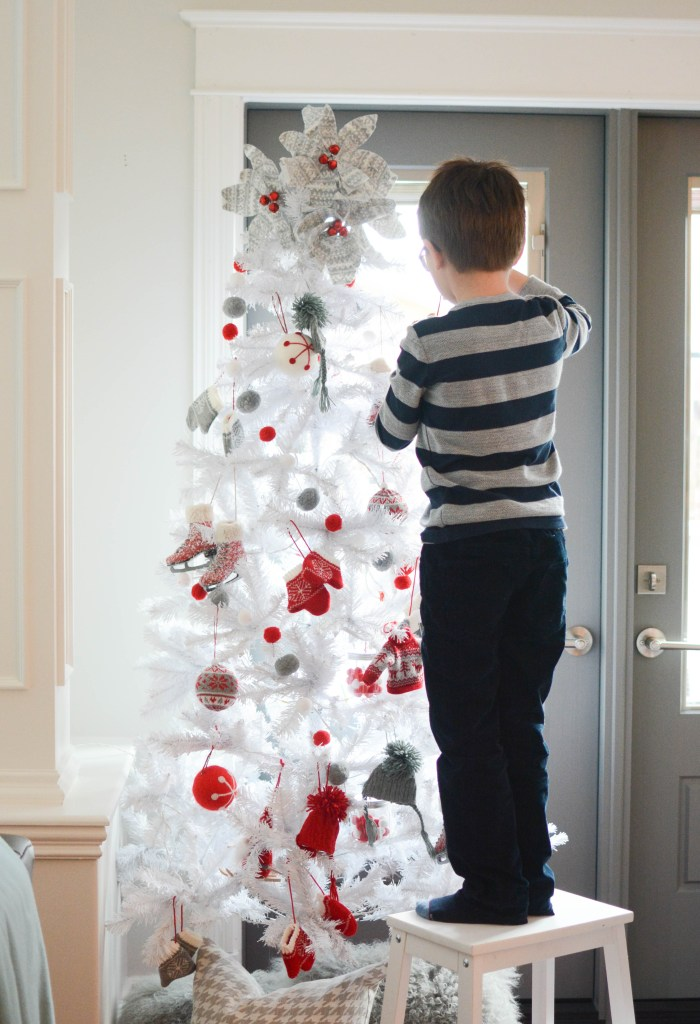 White Christmas tree Nordic