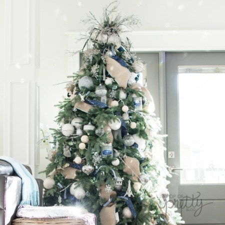 navy Christmas decor - Christmas tree