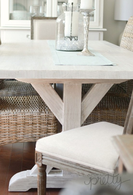 gorgeous trestle dining table