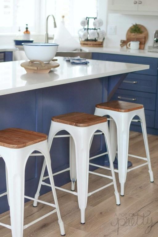 Coastal kitchen bistro stools - where to buy
