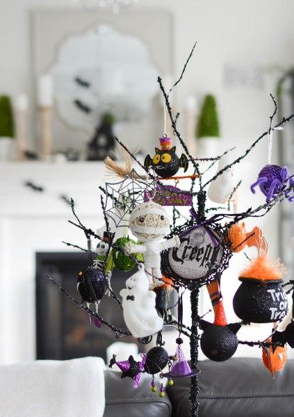 Halloween decorating tree