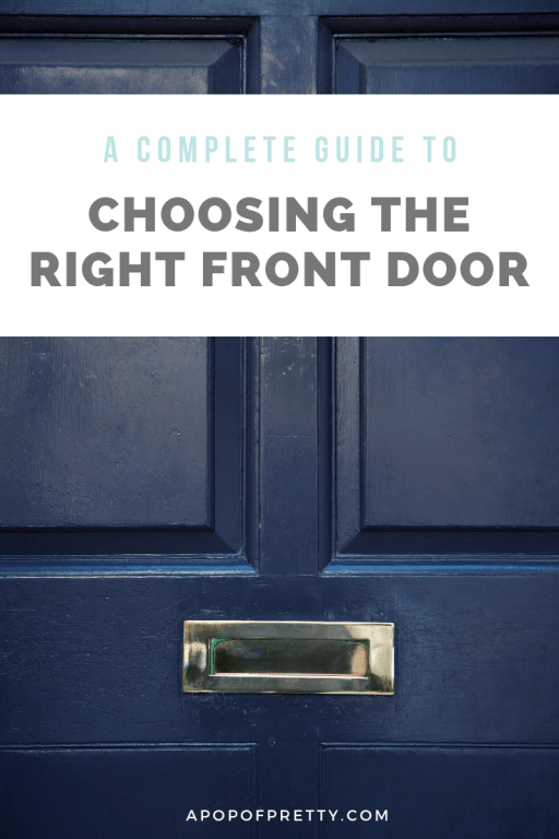 how to choose the right front door