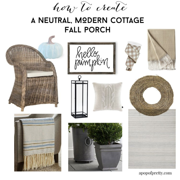 Fall porch decor - how to create a fall porch with neutral decor