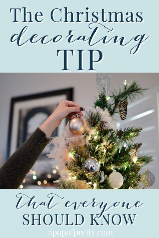 Christmas decorating tip