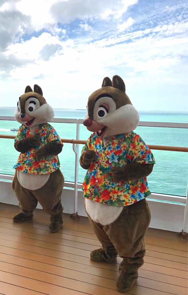 Chip and Dale on Disney Cruise
