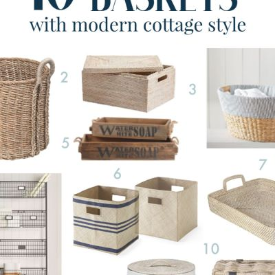 Tidying Up in Style: Where to Find Baskets