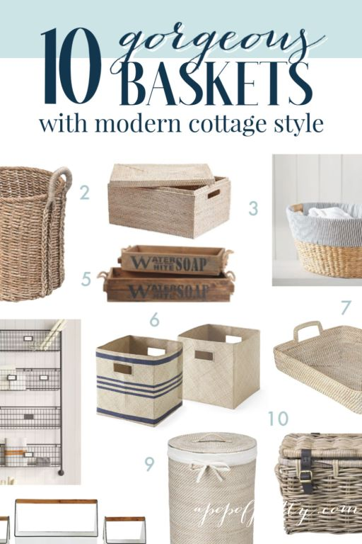 tidying up with baskets
