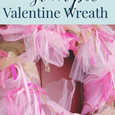 Pretty Valentine Wreath: Easy DIY with Ribbon