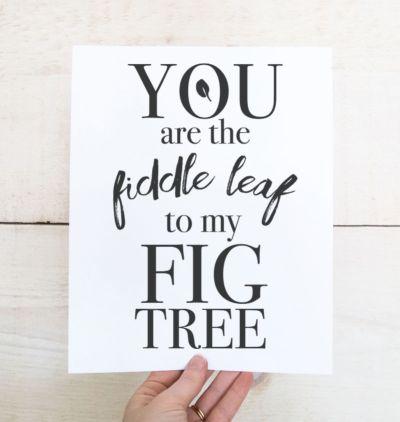 Free Printable Art - Fiddle Leaf Fig Tree