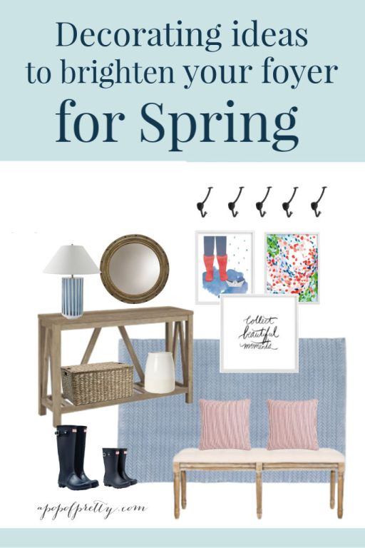 foyer decor ideas for Spring