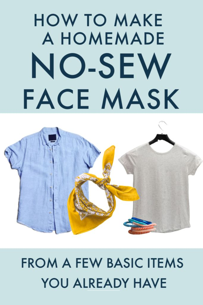 easy no sew face mask