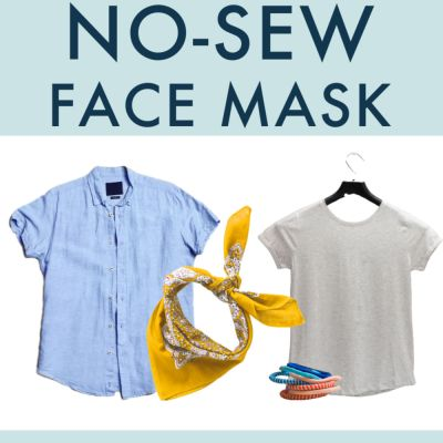 How to Make a No Sew Face Mask (from a Bandana or a Shirt)