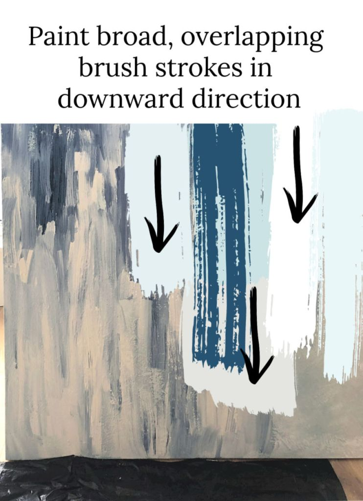 How to paint wet on wet broad strokes