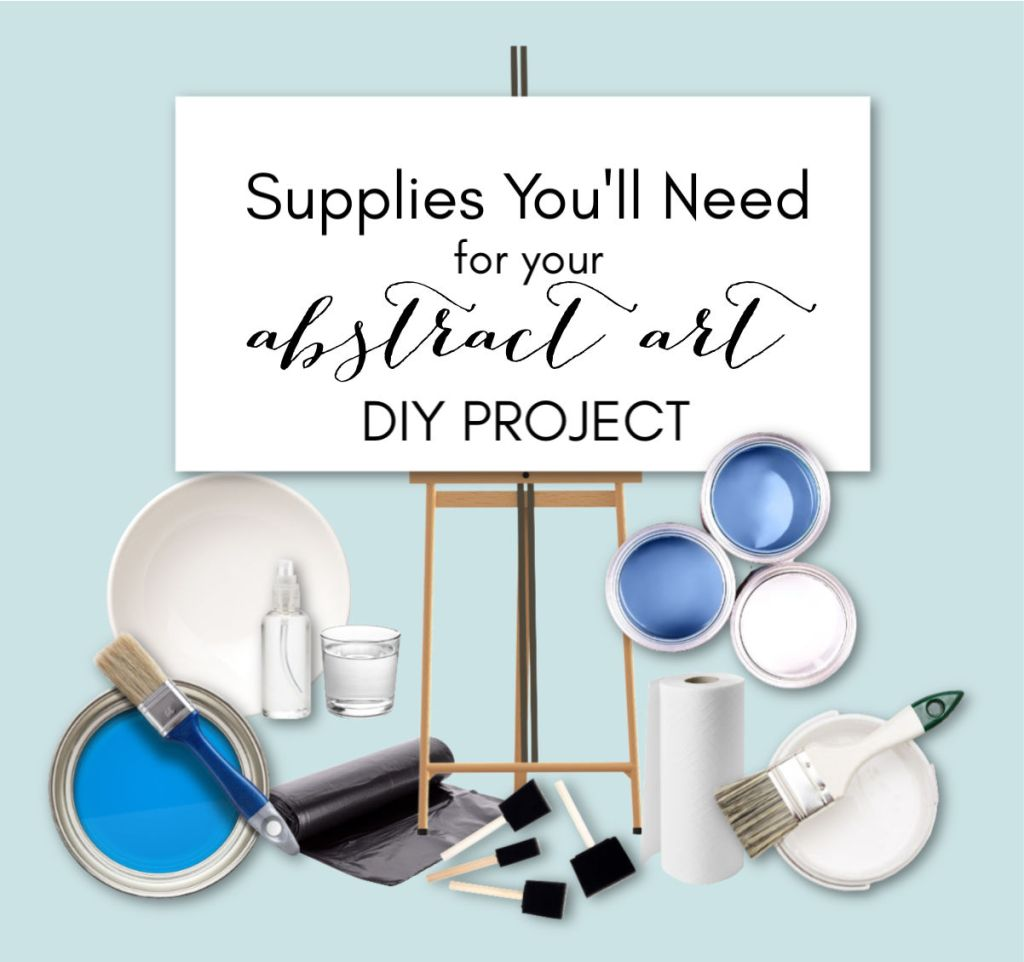 DIY abstract art supplies