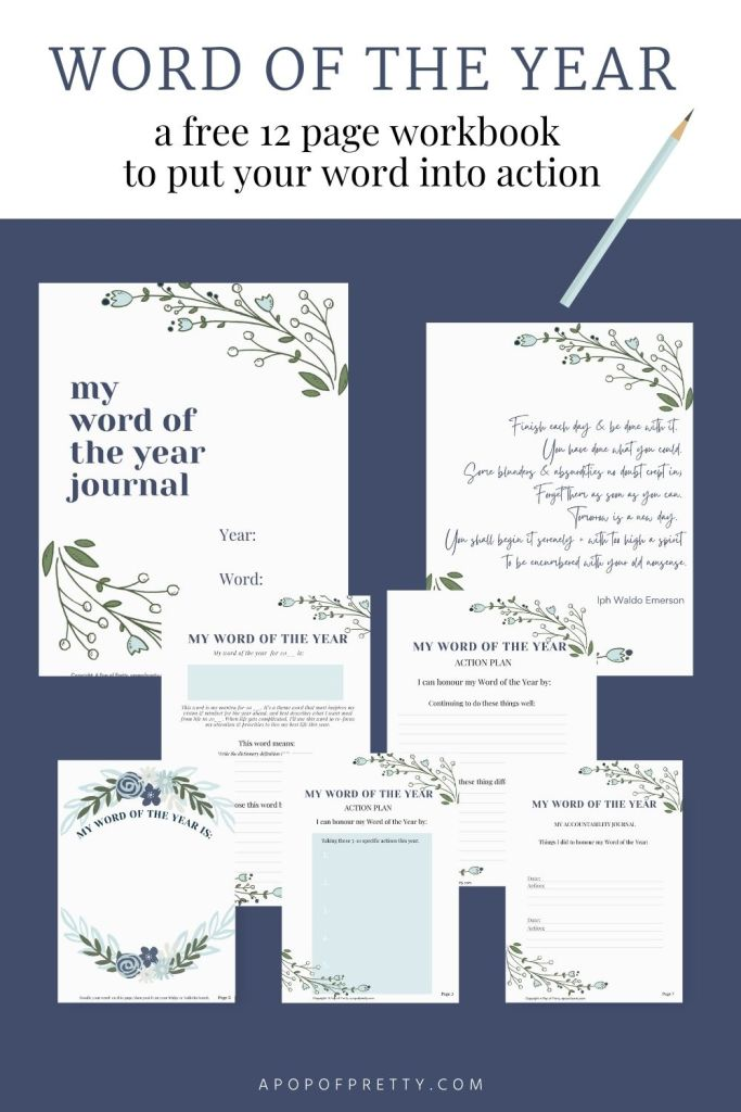 free printable workbook goals