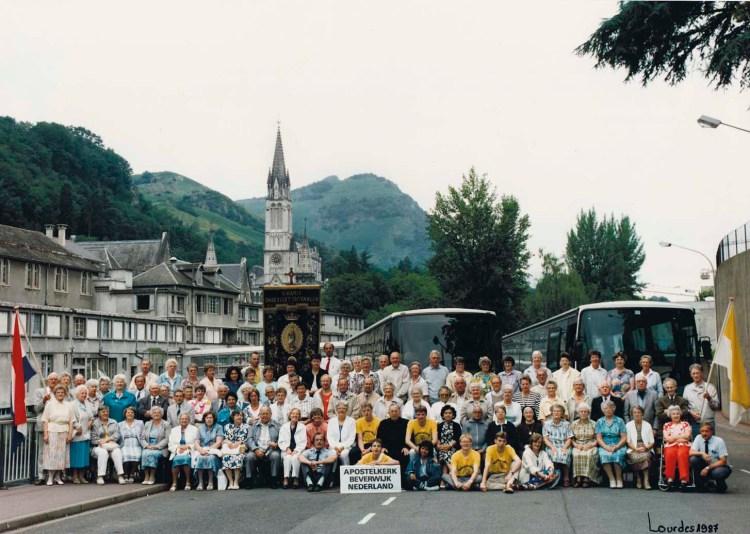 Lourdes Bedevaart 1987, Apostelkerk Beverwijk