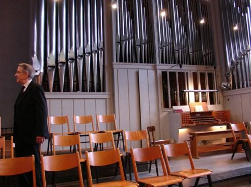 Beckerath-Orgel auf der Empore, Gottesdienst am 04.04.2010, © Birgit Schröter