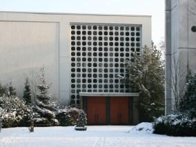 Apostelkirche im Schnee, Sicht vom Kindergartne aus, 07.01.2010, © Beate Sachs