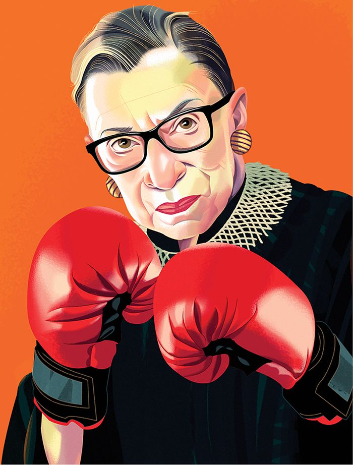 Ruth Bader Ginsburg's Workout (Portrait by Nigel Buchanan)