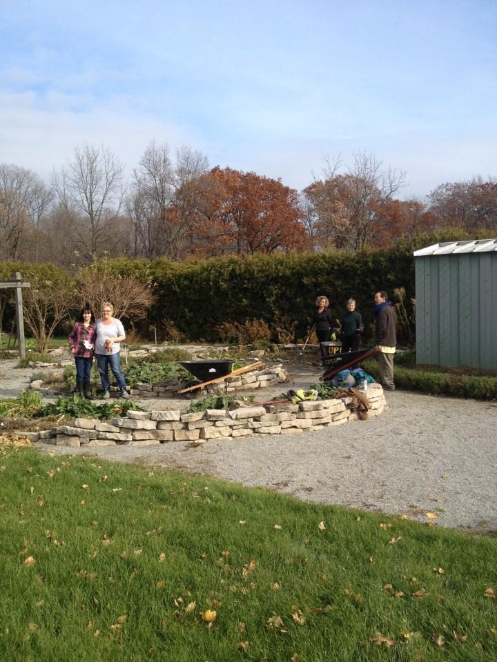 Closing the Apothecary's Garden for the season 2013
