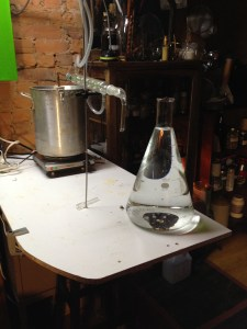 Distillation of Wild Ginger essential oil with homemade pot still