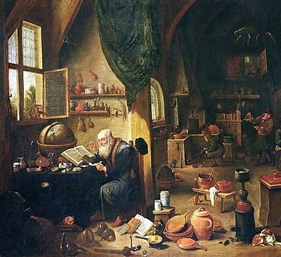 Alchemist at work.