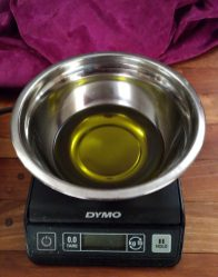 Weighing carrier oil