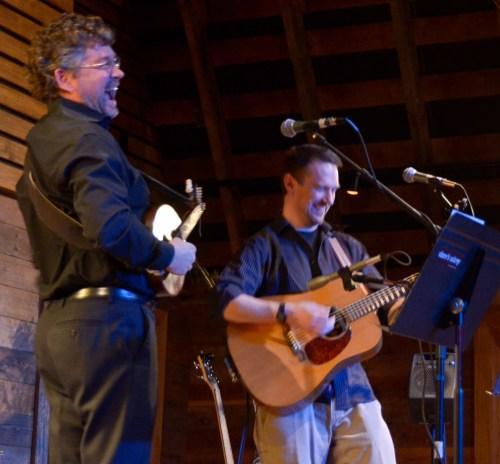 Gary McGraw (mandolin) and Rhine Singleton (guitar) of Where's Aubrey