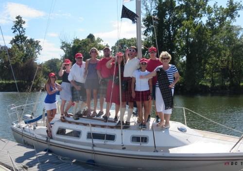 Team Tartan after a long day of sailing