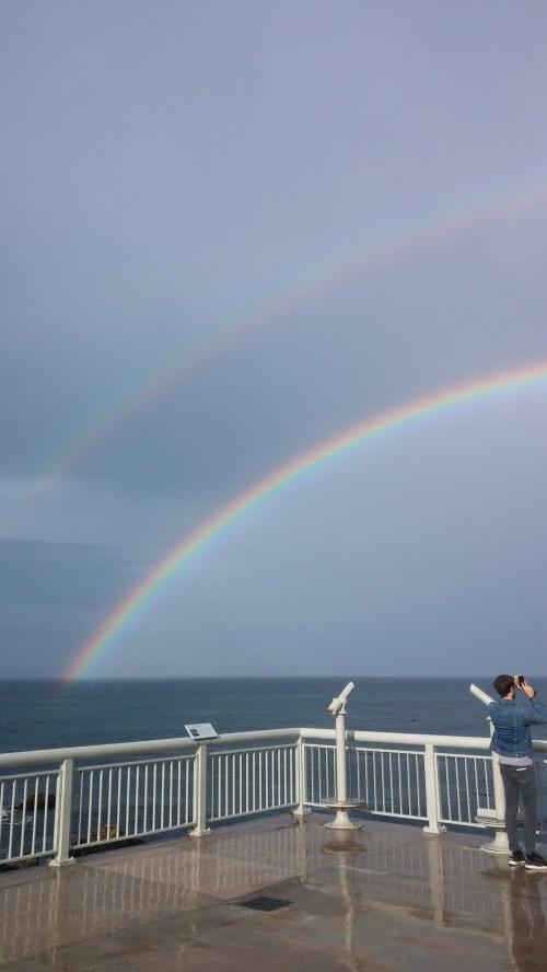 Double rainbow over Monterey Bay