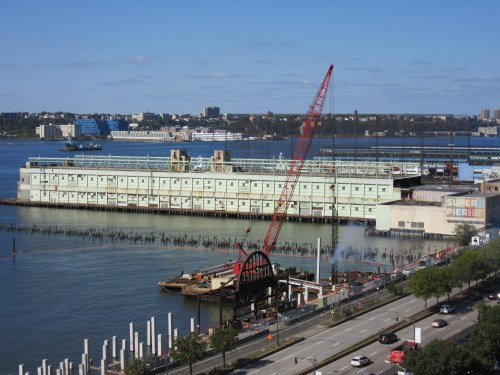 Construction on the river