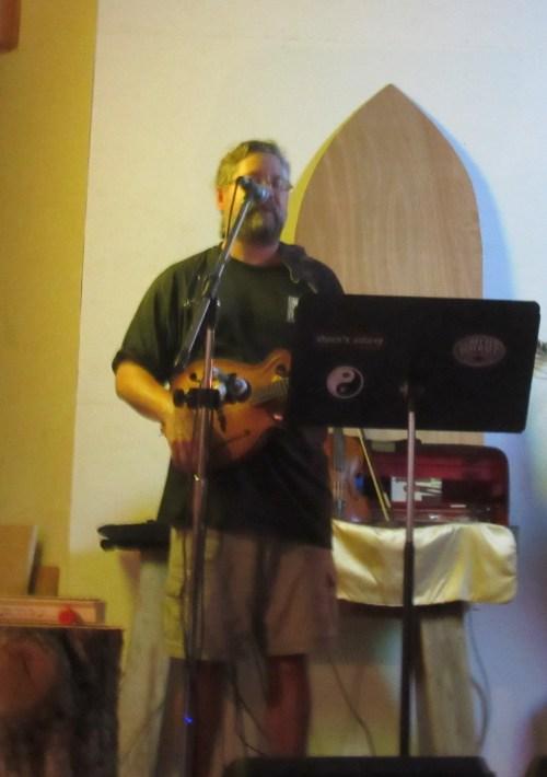 Gary McGraw of Where's Aubrey on mandolin