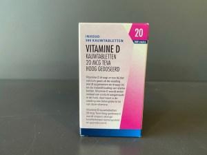 Vitamine D TEVA 20 mcg 300 stuks