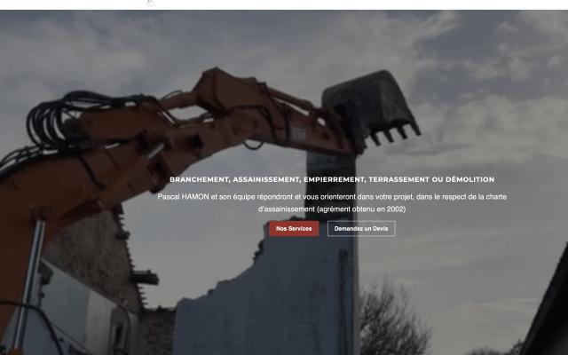 Création de site vitrine à Arzal pour le BTP Hamon TP Arzal