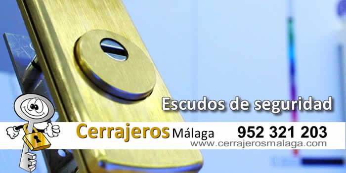 Escudos de seguridad en Málaga