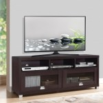Details About Tv Stand 65 Inch 90 Lbs Capacity Audio Gaming Component Shelves Glass Doors New