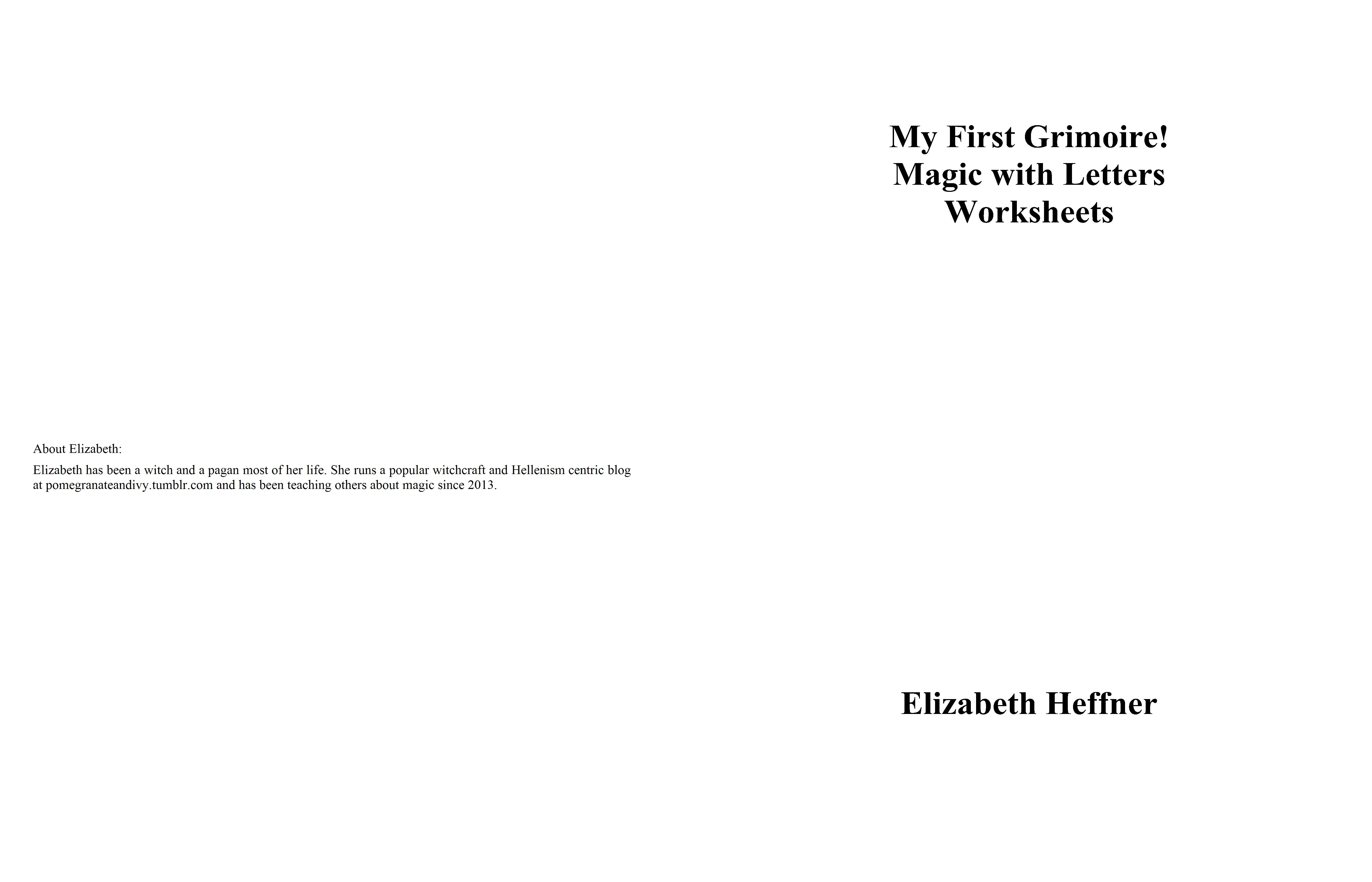 My First Grimoire Magic With Letters Worksheets By