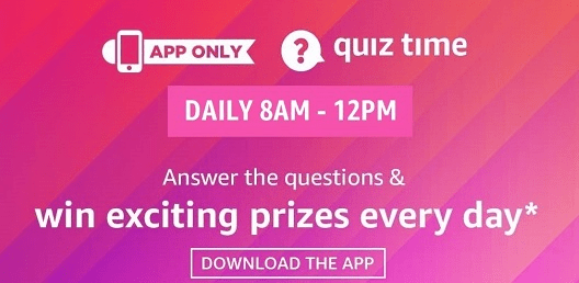 Amazon Quiz Answers 30 December 2020