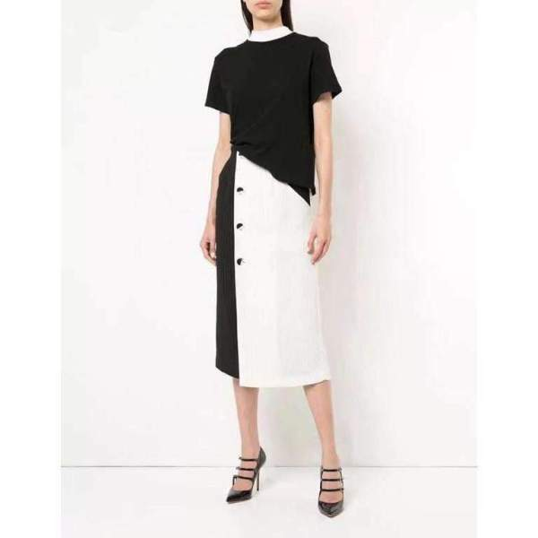 Casual Chic Double Tone Skirt
