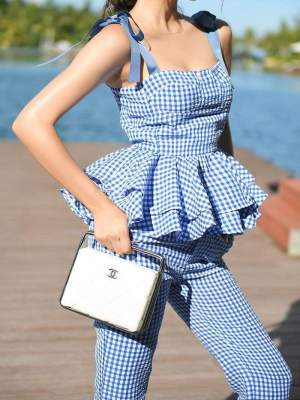Dallace Ghingham Checkered Separates