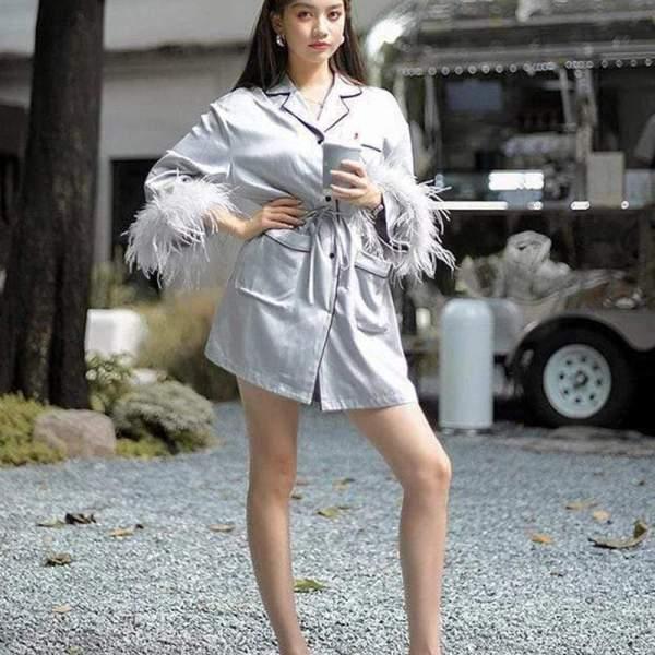 Karol Feather Dress