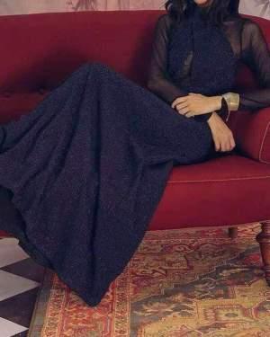 Orera Black Side Through Gown