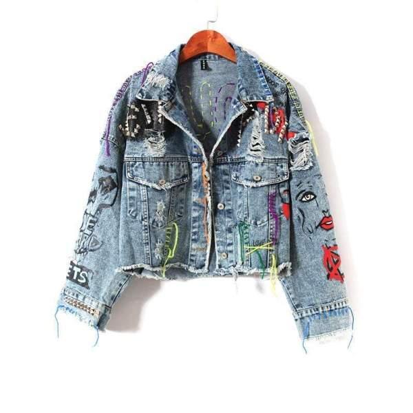 Threads and Stud Fun Denim Jacket