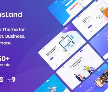 85% OFF-Saasland WordPress Responsive Multi-Purpose Theme 2020