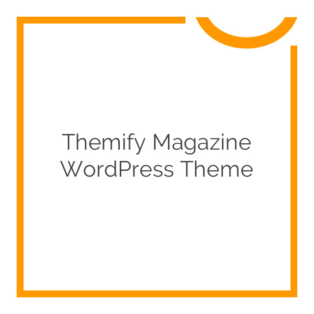 Themify Magazine WordPress Theme 80% off