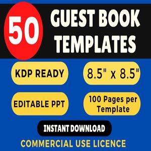 50+ Guest Books KDP Bundle Templates Cheap Price 2020