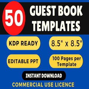 50+ Guest Books KDP Bundle Templates Cheap Price 2020